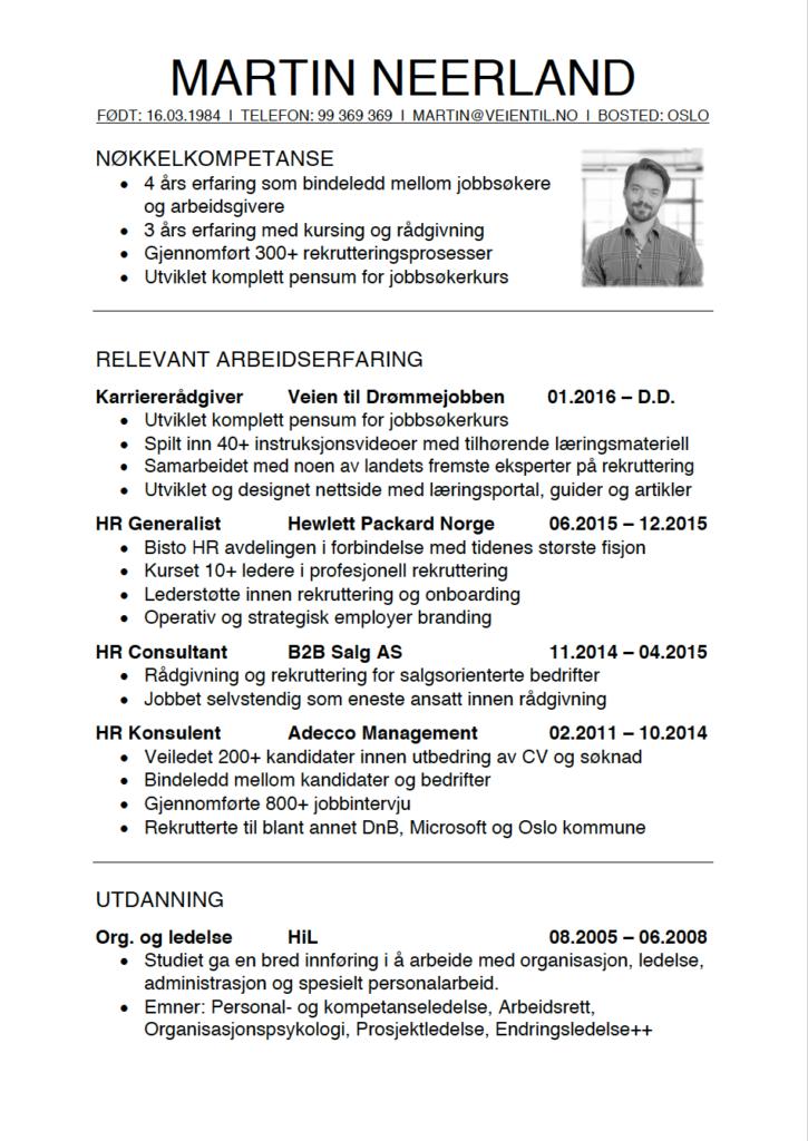 Hvordan skrive CV - CV-guide - En komplett guide for jobbsøkere